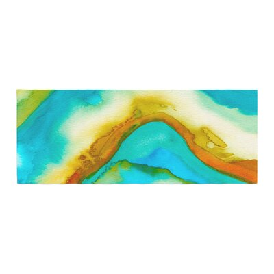 Viviana Gonzalez Agate Inspired Watercolor 10 Watercolor Bed Runner