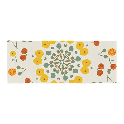 Laura Nicholson Ranunculas Floral Bed Runner