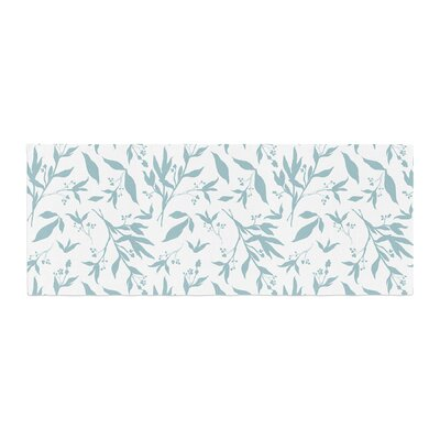 Zara Martina Leafy Silhouettes Painting Bed Runner