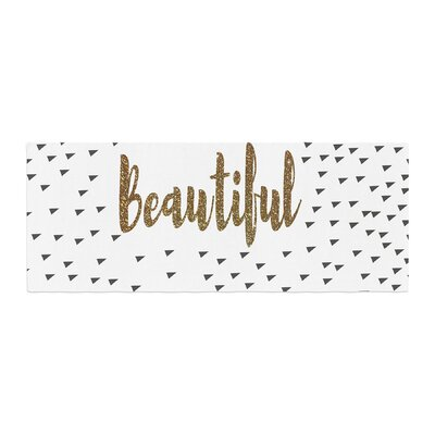 Suzanne Carter Beautiful Typography Bed Runner