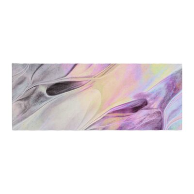Mmartabc Abstract Paint Strokes Digital Bed Runner