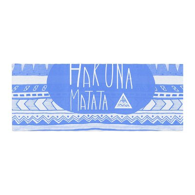 Vasare Nar Hakuna Matata Azure Illustration Bed Runner