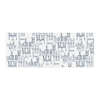 Stephanie Vaeth Tables and Chairs Abstract Bed Runner