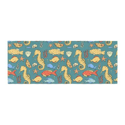 Stephanie Vaeth Under the Sea Illustration Bed Runner