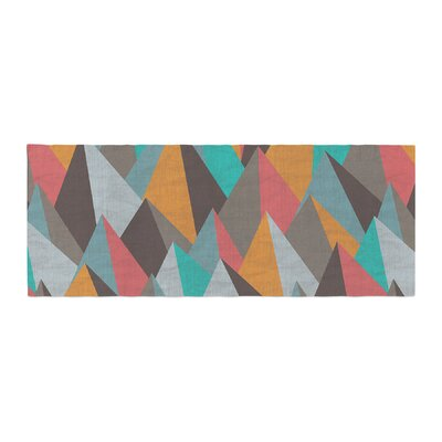 Michelle Drew Mountain Peaks I Bed Runner