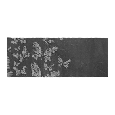 Snap Studio Butterflies IV Chalk Bed Runner