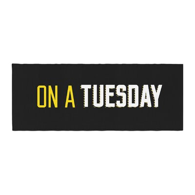 Tuesday Typography Bed Runner
