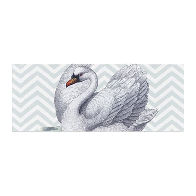 Suzanne Carter Vintage Swan Bird Chevron Bed Runner