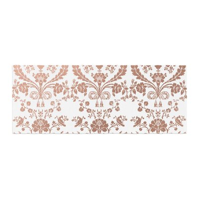 Baroque Abstract Floral Bed Runner Color: Rose Gold