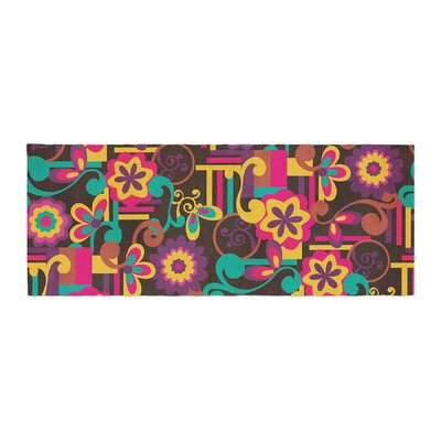 Louise Machado Arabesque Floral Bright Colorful Bed Runner