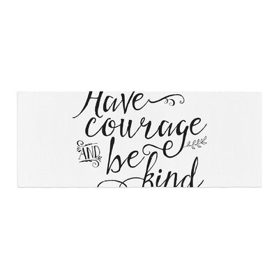 Noonday Designs Have Courage and Be Kind Bed Runner