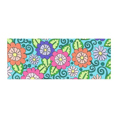 Sarah Oelerich Summer Floral Flowers Bed Runner