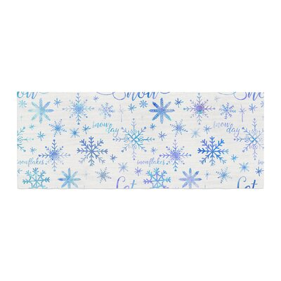 Noonday Design Let It Snow Winter Pattern Bed Runner