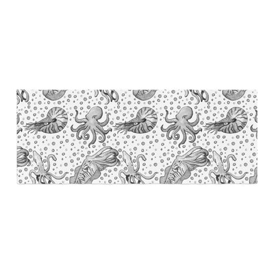 Stephanie Vaeth Cephalopods Bed Runner