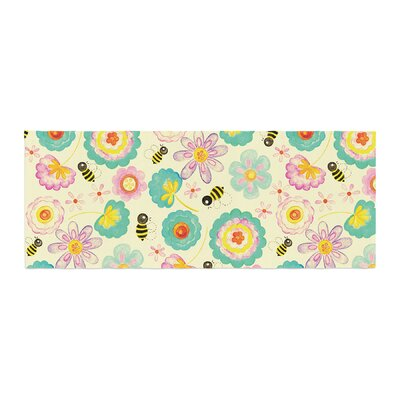 Louise Machado Floral Bee Bed Runner