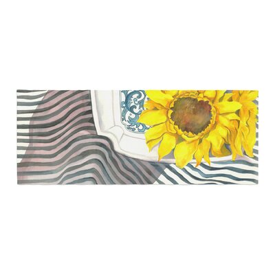 S. Seema Z Finall Sunflower Flower Bed Runner