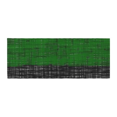 Trebam Platno Digital Bed Runner Color: Green