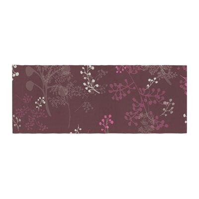 Laurie Baars Ferns Vines Floral Bed Runner Color: Bordeaux