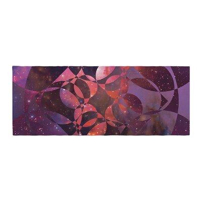 Matt Eklund Galactic Brilliance Geometric Bed Runner Color: Pink