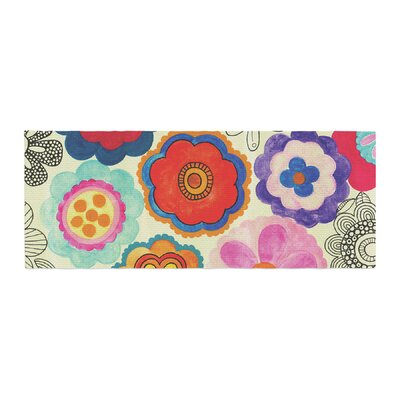 Louise Machado Charming Floral Floral Bed Runner