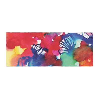 Sonal Nathwani Celebration Floral Painting Bed Runner