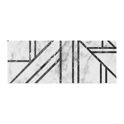 Marble Mosaic Geometric Modern Bed Runner