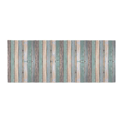 Susan Sanders Coastal Beach Wood Photography Bed Runner