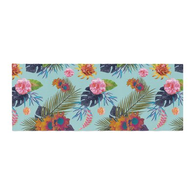 Nika Martinez Tropical Floral Flowers Bed Runner