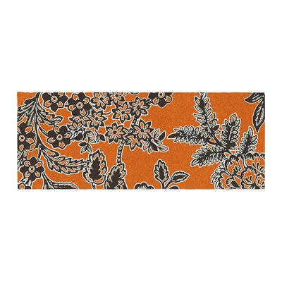 Vikki Salmela Blossom Bed Runner Color: Orange