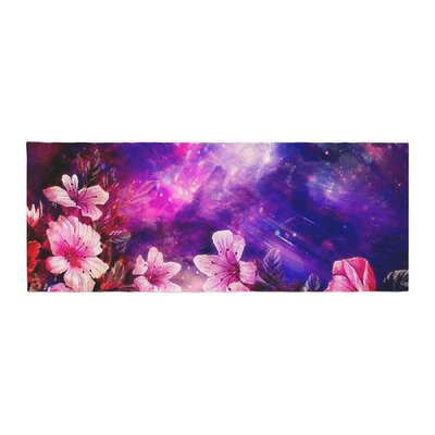 Shirlei Patricia Muniz Space Flowers Bed Runner