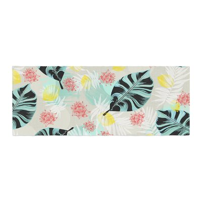 Mmartabc Tropical Plants Illustration Bed Runner