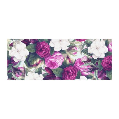 83 Oranges Exotic Flora Painting Bed Runner