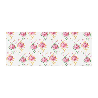 Laura Escalante Cross Stitch Flowers Bed Runner