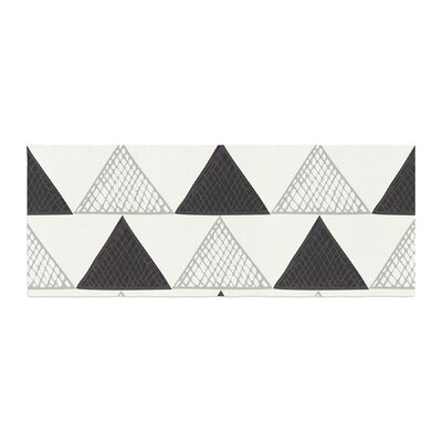 Laurie Baars Textured Triangles Geometric Abstract Bed Runner