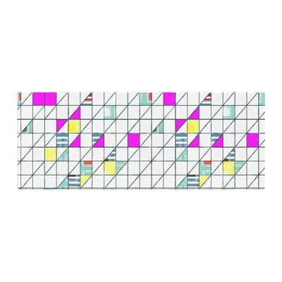 Michelle Drew Squares Abstract Geometry Bed Runner