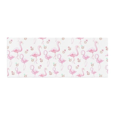 Stephanie Vaeth Flamingos Painting Bed Runner