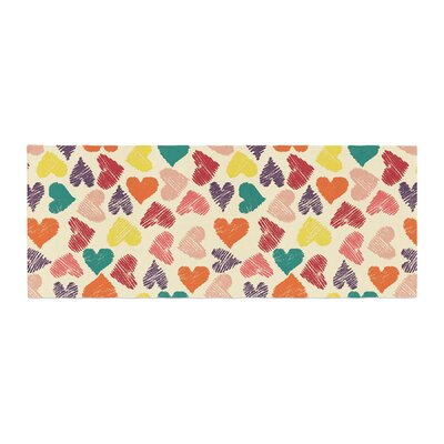 Louise Machado Little Hearts Bed Runner