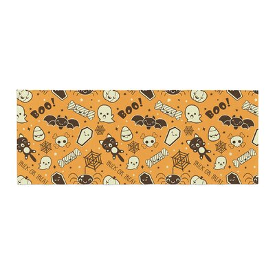 All Cute Halloween Pattern Bed Runner