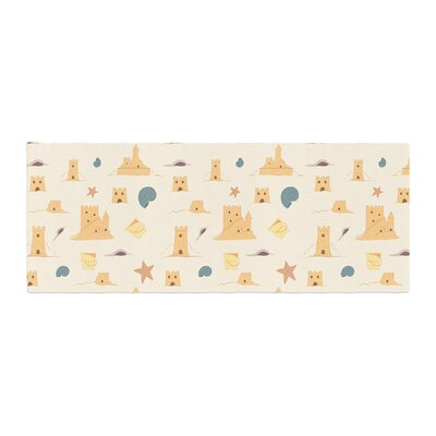 Stephanie Vaeth Sandcastles Bed Runner