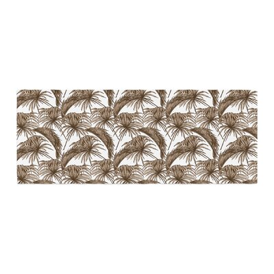 Palmtastic Abstract Bed Runner Color: Brown