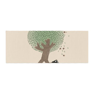 Tobe Fonseca Run for Your Life Tree Illustration Bed Runner