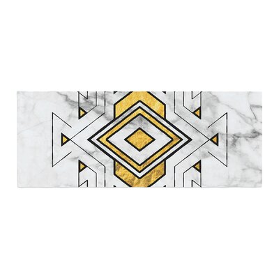 Geo Marble Graphic Tribal Bed Runner