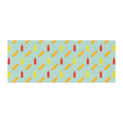 Will Wild Hot Dog Pattern II Food Bed Runner