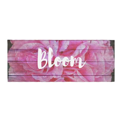 Suzanne Carter Bloom Typography Floral Bed Runner