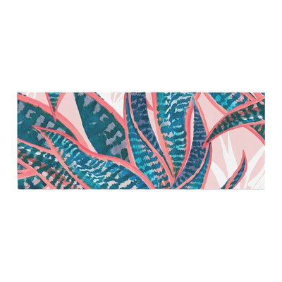 Mmartabc Succulent Pattern Leaves Illustration Bed Runner