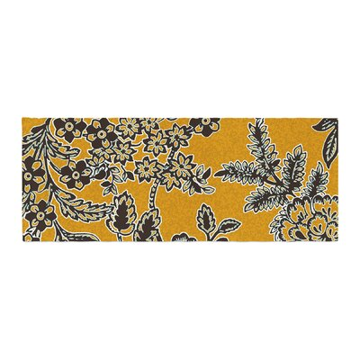 Vikki Salmela Blossom Bed Runner Color: Gold