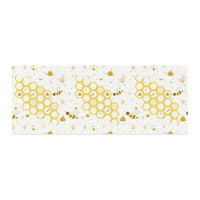 Stephanie Vaeth Honey Bees Bed Runner