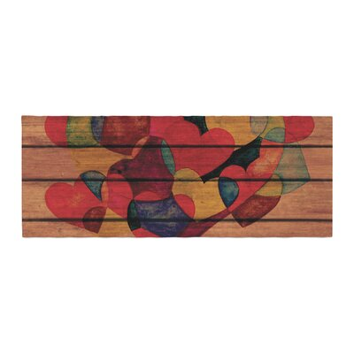 Louise Machado Wooden Heart Bed Runner