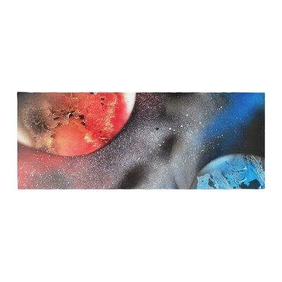 Infinite Spray Art Sun VS. Moon Planet Bed Runner