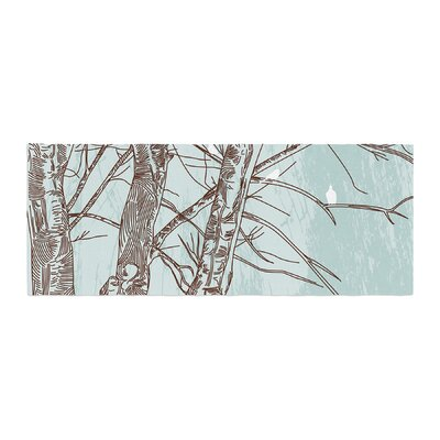 Sam Posnick Winter Trees Bed Runner